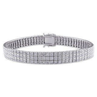 Miadora Signature Collection 18k White Gold 4 2/5ct TDW Diamond Bracelet (G-H, SI1-SI2)
