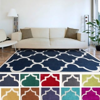 Artfully Crafted Mya Geometric Polyester Area Rug-(5' x 8')