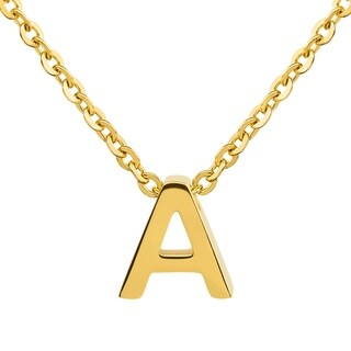 ELYA 18k Gold over Steel Initial Pendant Necklace