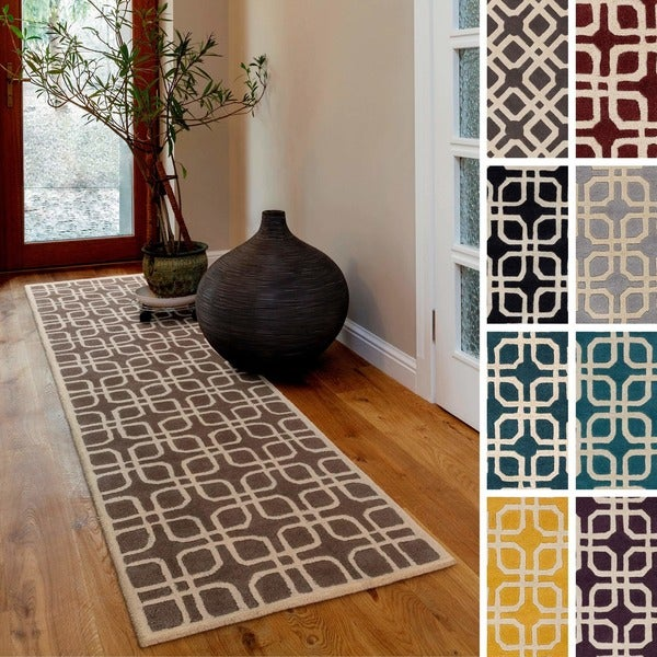 Shop Hand Tufted Brigg Crosshatched Wool Area Rug 2 3 Quot X