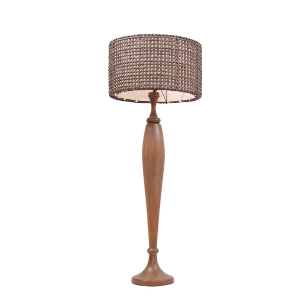 East At Main's Giddings Antique Transitional Brown Indoor Floor Lamp