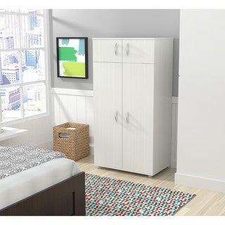 Inval Laricina White 4-door Armoire