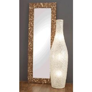 Byers Sleek Polished Transitional Off-White Indoor Floor Lamp