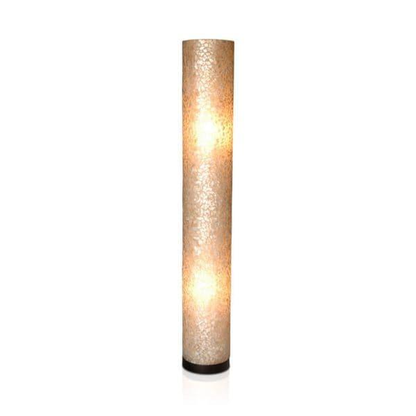 East At Main's Dublin Modern Geometric Transitional Off-White Indoor Floor Lamp