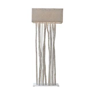 East At Main's Gorman Modern Geometric Transitional White Indoor Floor Lamp