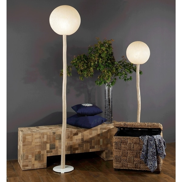 East At Main's Gonzales Modern Geometric Transitional Off-White Indoor Floor Lamp