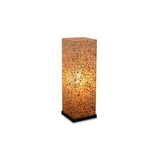 Crowley Sleek Polished Transitional Brown Indoor Floor Lamp