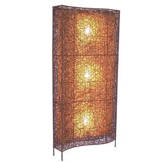 Gruver Tribal Moroccan Transitional Brown Indoor Floor Lamp