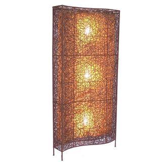 Gruver Tribal Moroccan Transitional Brown Indoor Floor Lamp