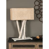 East At Main's Granbury Modern Geometric Transitional Off-white Indoor Floor Lamp