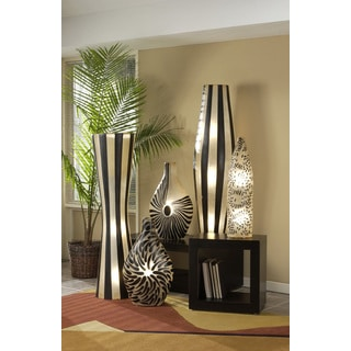 Granger Polished Sleek Transitional Black Indoor Floor Lamp