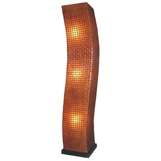 East At Main's Holliday Tribal Moroccan Transitional Brown Indoor Floor Lamp