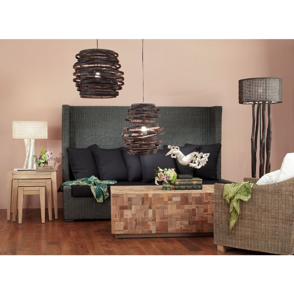 East At Main's Gordon Modern Geometric Transitional Black Indoor Floor Lamp