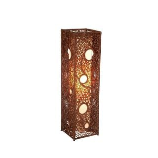 Abbott Moroccan Tribal Transitional Brown Indoor Floor Lamp