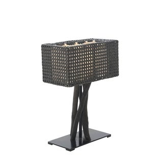 East At Main's Granbury Modern Geometric Transitional Black Indoor Floor Lamp