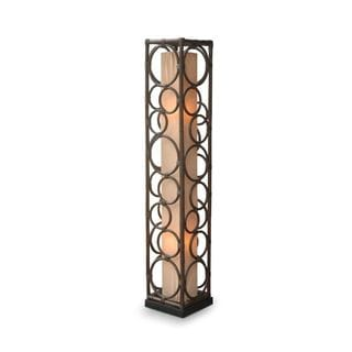 Coppell Modern Geometric Transitional Brown Indoor Floor Lamp