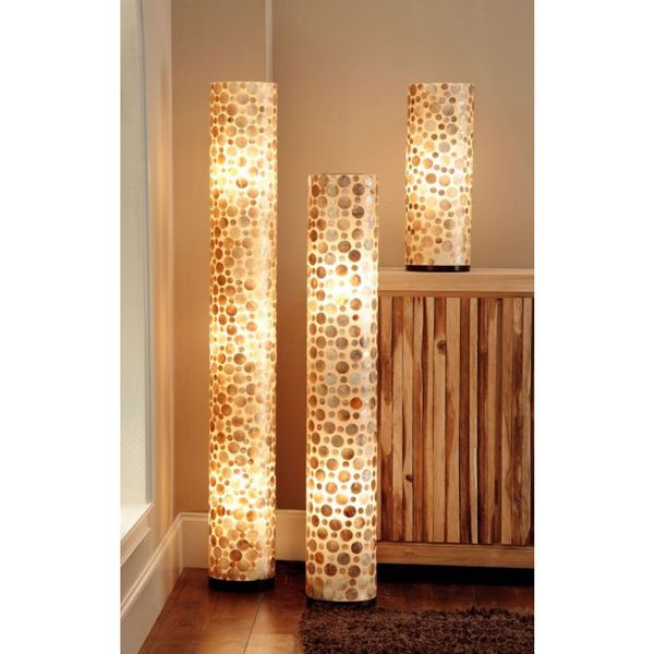 East At Main's Cuero Sleek Polished Transitional Brown Indoor Floor Lamp