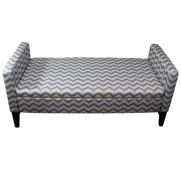 "24""H Chevron Storage Bench"