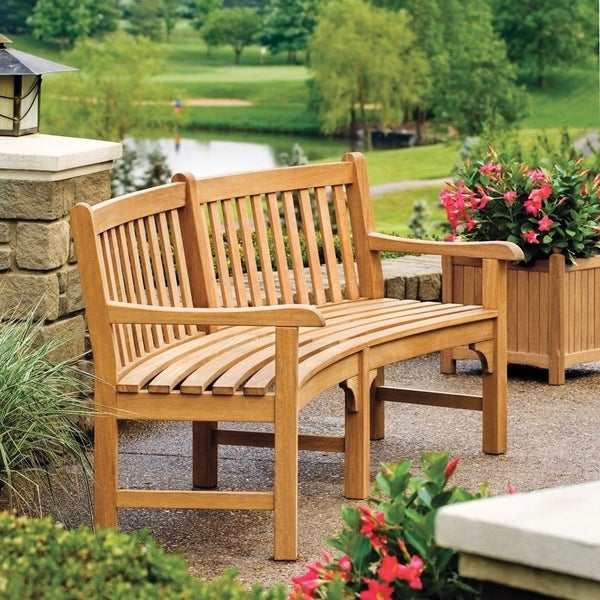 Shop Oxford Garden Essex Curved Bench Free Shipping Today