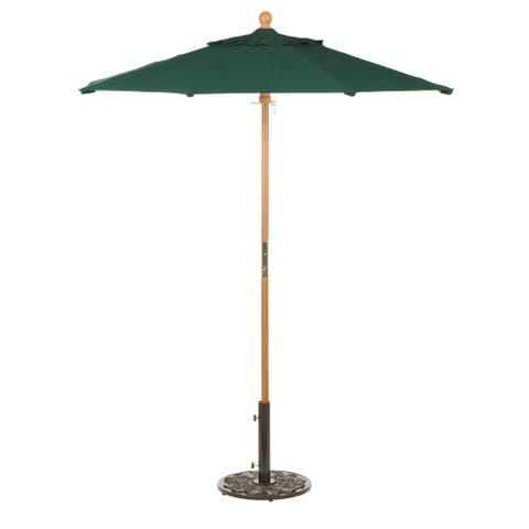 Oxford Garden Octagon 6 foot Sunbrella Market Umbrella, Wood