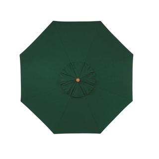 Oxford Garden Octagon 9 foot Sunbrella Market Umbrella, Wood
