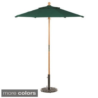 Oxford Garden Octagon 9 foot Sunbrella Market Umbrella, Wood