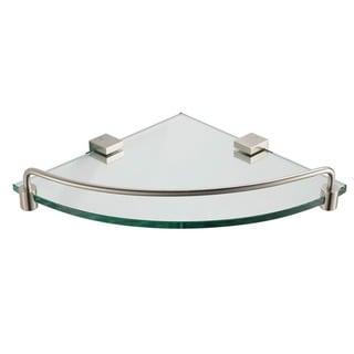 Fresca Ottimo Corner Glass Shelf - Brushed Nickel - Gold