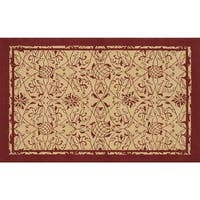 Hand-hooked Heritage Red Pp Acrylic Area Rug (5' x 7')