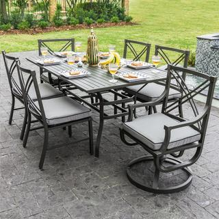 Audubon 6-Person Aluminum Patio Dining Set With Aluminum Table