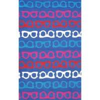 Hand-hooked Hepburn UV Polyester Area Rug (5' x 7'6)