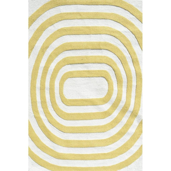area rug sizes shop hooked mod yellow polypropelene area rug 5 x 7 29208