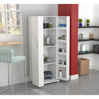 Inval Laricina White Kitchen Storage Cabinet|https://ak1.ostkcdn.com/images/products/9989267/P17139671.jpg?impolicy=medium