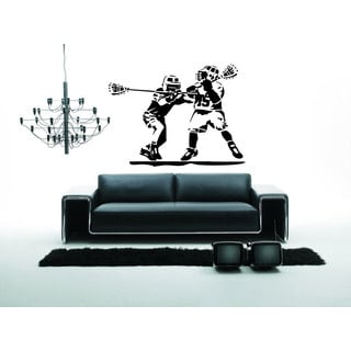 Black Lacrosse Vinyl Wall Art