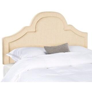 Link to Safavieh Kerstin Hemp Linen Upholstered Arched Headboard (King) Similar Items in Bedroom Furniture