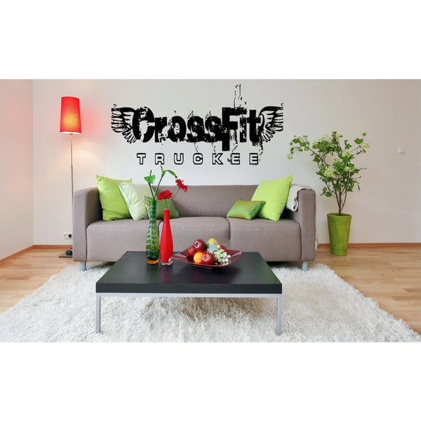 shop crossfit fitness gym vinyl wall art - ships to canada