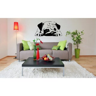 Pug Dog Puppy Vinyl Wall Art