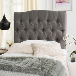 Safavieh Axel Arctic Grey Upholstered Tufted Headboard (Twin)
