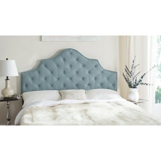Safavieh Arebelle Sky Blue Upholstered Tufted Headboard - Silver Nailhead (Full)
