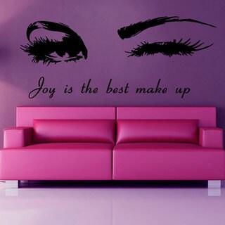 Winking Girl Joy is The Best Make Up Vinyl Wall Art
