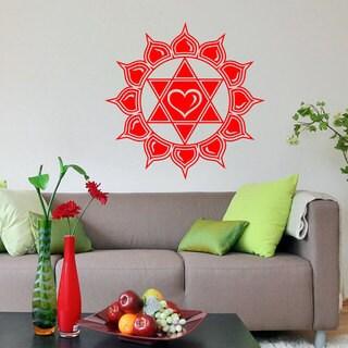 Anahata Heart Chakra Om Symbol Vinyl Wall Art
