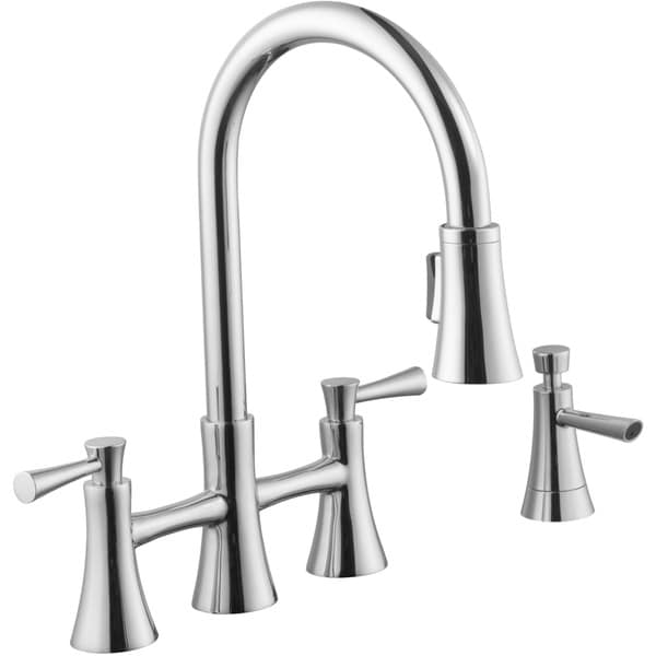 Bridge Kitchen Faucet With Pull Down Spray