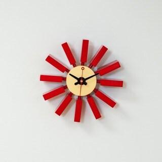 Mid Century Modern Spoke Clock