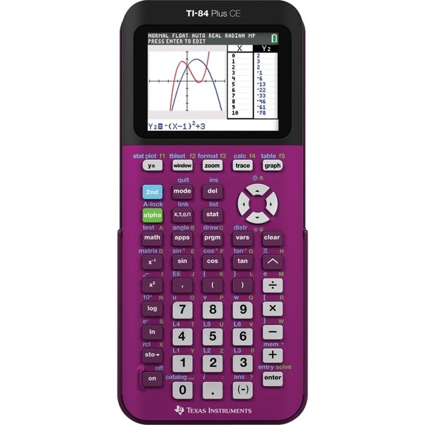 Shop Texas Instruments TI-84 Plus CE Graphing Calculator - Free Shipping Today - Overstock - 9989573