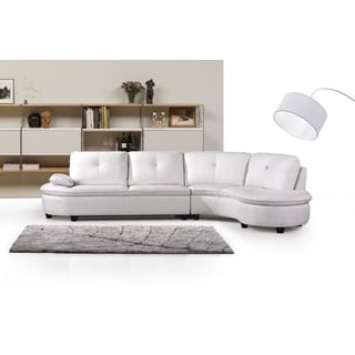 Cosmo Bonded Leather Right Facing Sectional Sofa