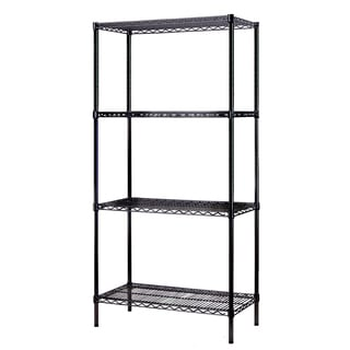 Excel (72 inches high x 36 inches wide x 18 inches deep) All Purpose Heavy Duty 4-tier Wire Shelving, Black