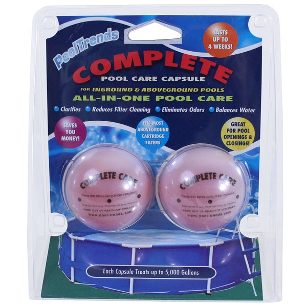 Shop pool trends swimming pool complete pool care capsule free shipping on orders over 45 for How to care for a swimming pool
