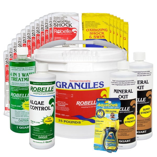 Robelle 10,000 - 20,000 Gallon Swimming Pool Maintenance Kit