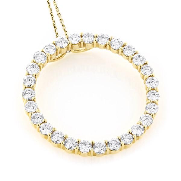 Luxurman 14k gold 4 25ct tdw diamond circle of love necklace luxurman 14k gold 4 25ct tdw diamond circle of love necklace aloadofball Choice Image
