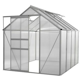 oGrow® WALK-IN 6' X 8' Lawn and Garden Greenhouse with Heavy Duty Aluminum Frame