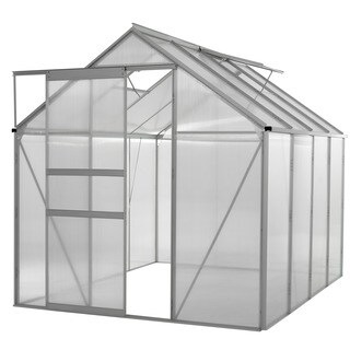 oGrow® WALK-IN 6' X 8' Lawn and Garden Greenhouse with Heavy Duty Aluminum Frame|https://ak1.ostkcdn.com/images/products/9989802/P17140175.jpg?_ostk_perf_=percv&impolicy=medium